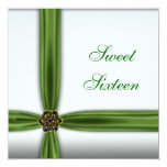 Emerald Green Jewel Sweet Sixteen Invitation