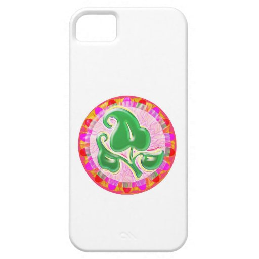 Emerald Green Leaf Jewel iPhone 5 Covers