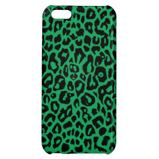 Emerald Green Leopard Animal Skins Cover For iPhone 5C