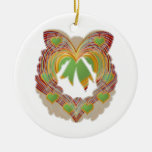 Emerald Green LITTLE Hearts Wreath Ornament