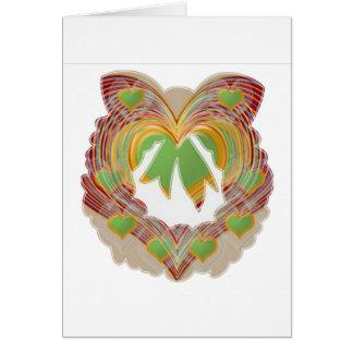 Emerald Green Little Hearts : Wreath Unique Greeting Card