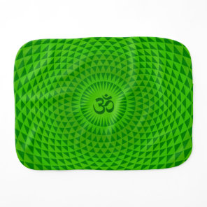 Emerald Green Lotus flower meditation wheel OM Burp Cloth