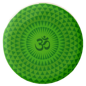 Emerald Green Lotus flower meditation wheel OM Chocolate Covered Oreo