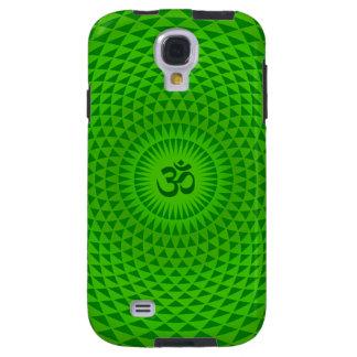 Emerald Green Lotus flower meditation wheel OM Galaxy S4 Case