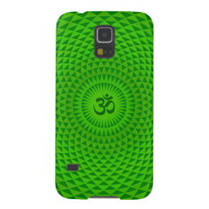 Emerald Green Lotus flower meditation wheel OM Galaxy S5 Cover
