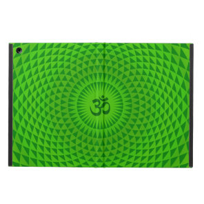 Emerald Green Lotus flower meditation wheel OM iPad Air Covers
