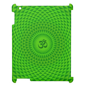 Emerald Green Lotus flower meditation wheel OM iPad Covers
