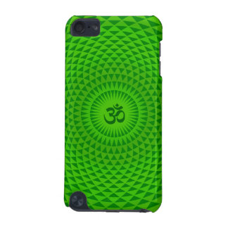 Emerald Green Lotus flower meditation wheel OM iPod Touch (5th Generation) Case