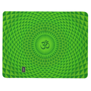 Emerald Green Lotus flower meditation wheel OM Journal