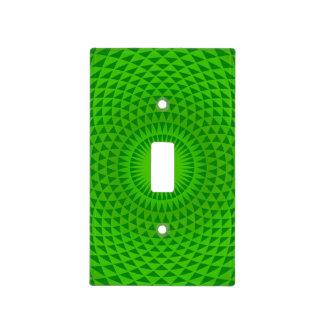 Emerald Green Lotus flower meditation wheel OM Light Switch Cover