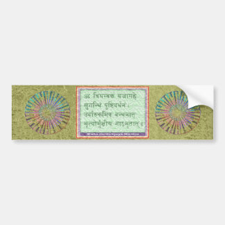Emerald Green - Maha Mritunjaya Mantra Bumper Sticker