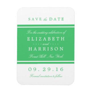 Emerald Green Modern Wedding Save The Date Magnet