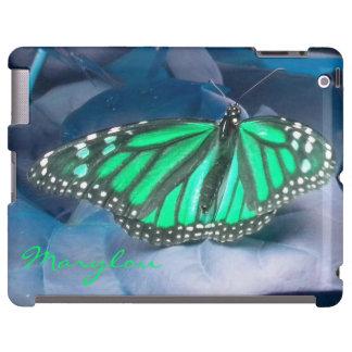 Emerald Green Monarch Butterfly iPad  Case