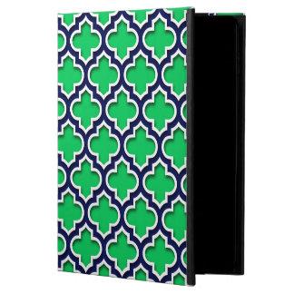 Emerald Green Navy White Moroccan Quatrefoil #5DS Powis iPad Air 2 Case