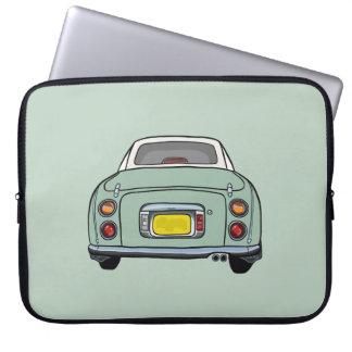 Emerald Green Nissan Figaro Car Laptop Sleeve