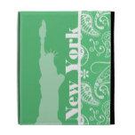 Emerald Green Paisley; New York City iPad Folio Covers