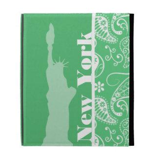 Emerald Green Paisley; New York City iPad Cases