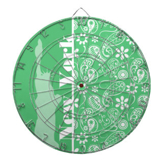 Emerald Green Paisley; New York City Dartboards