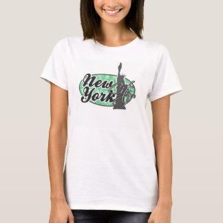 Emerald Green Paisley; New York City T-Shirt