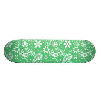 Emerald Green Paisley Skate Board Decks