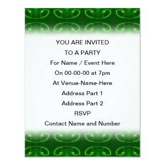 Emerald Green Pattern. Card
