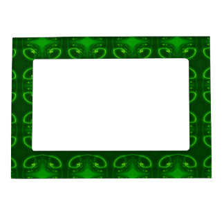 Emerald Green Pattern. Magnetic Photo Frame