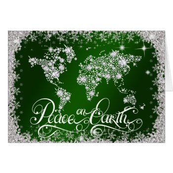Emerald Green Peace on Earth Diamonds PERSONALIZED Card