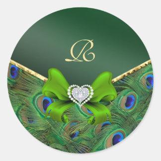 Emerald Green Peacock Wedding Gift Seal