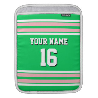 Emerald Green Pink Team Jersey Custom Number Name Sleeve For iPads