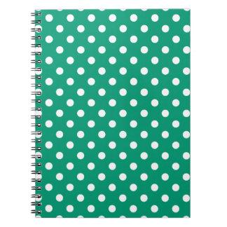 Emerald Green Polka Dot Pattern Notepad Note Books