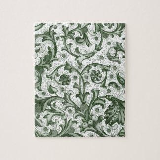 Emerald Green Print Jigsaw Puzzle