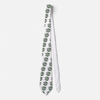 Emerald Green Ribbon And Wings Liver Cancer Neck Tie
