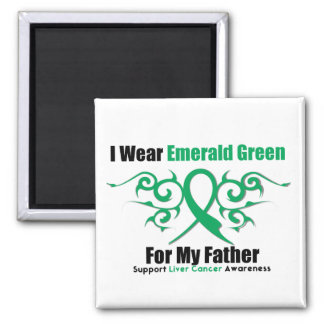 Emerald Green Ribbon (Father) - Liver Cancer Magnet