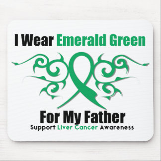 Emerald Green Ribbon (Father) - Liver Cancer Mousepad