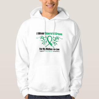 Emerald Green Ribbon (Mother-in-Law)  Liver Cancer Hoodie