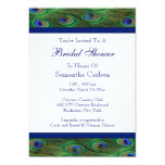 Emerald Green Royal Blue Peacock Bridal Shower Personalized Invite