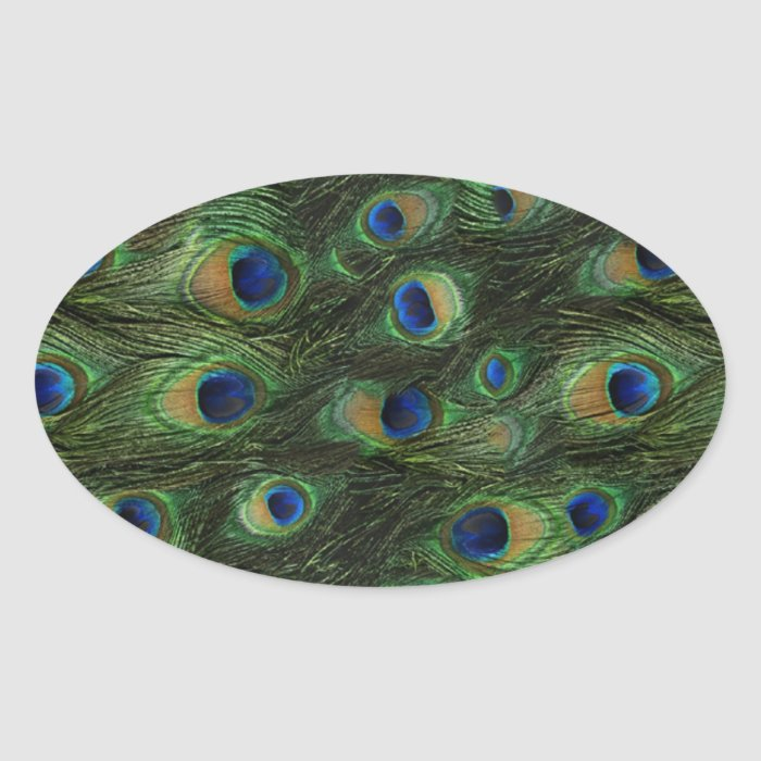 Emerald Green Royal Blue Peacock Stickers
