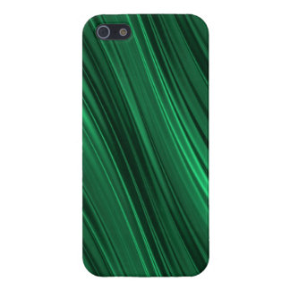 Emerald green shaded stripes iPhone SE/5/5s cover
