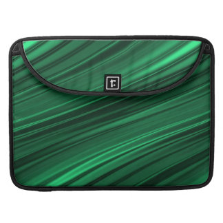 Emerald green shaded stripes sleeve for MacBooks