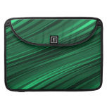 Emerald green shaded stripes sleeves for MacBooks