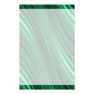 Emerald green shaded stripes stationery