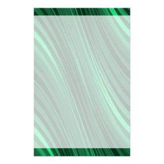 Emerald green shaded stripes stationery