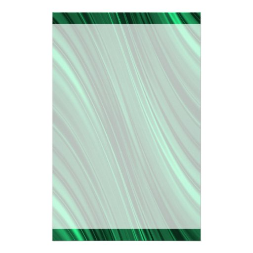 Emerald green shaded stripes stationery design