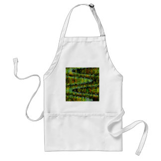 Emerald Green Show - Waves, Sparkle n Panorama Adult Apron