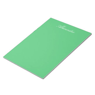 Emerald Green Solid Color Notepad