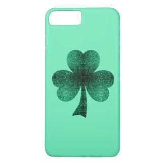Emerald Green Sparkles Shamrock Clover turquoise iPhone 7 Plus Case