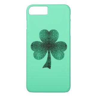 Emerald Green Sparkles Shamrock Clover turquoise iPhone 8 Plus/7 Plus Case