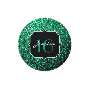 Emerald Green sparkles  Candy tin