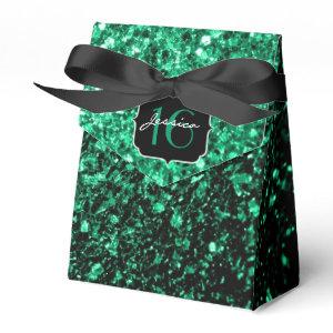 Emerald Green sparkles  favor box
