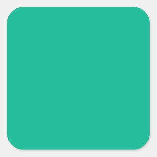 Emerald Green Square Sticker